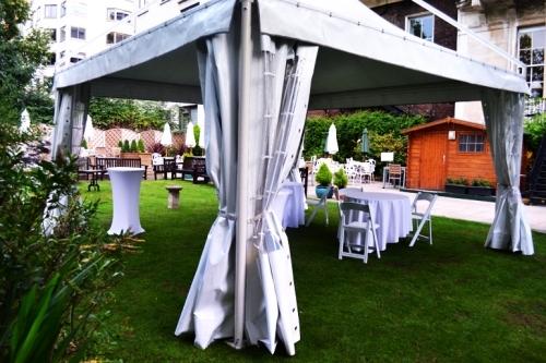 Milano Marquee Garden Setting