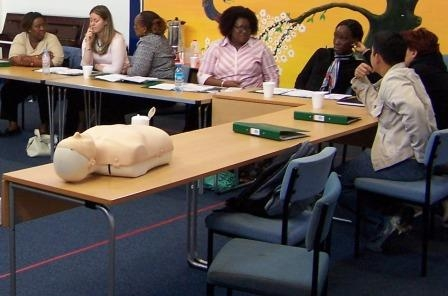 First aid training discussions, London