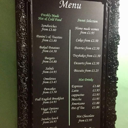 Wendys Place | Menu Board