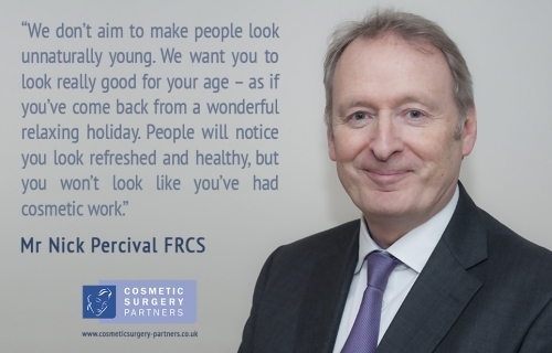 Surgeon Mr Nick Percival on the topic of natural looking cosmetic surgery