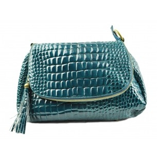 Second Tread Footwear Ostrich Blue Bag