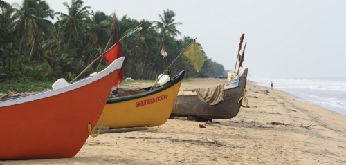 Nileshwar Beach Fishing Boats