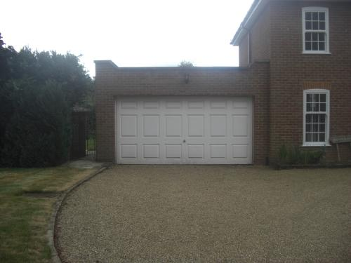 Garage door up and over before in Farnborough Park