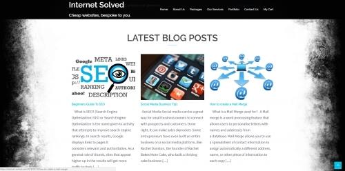 Internet Solved - Homepage Blog