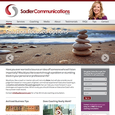Sadler Communications, Singapore - responsive website design and build