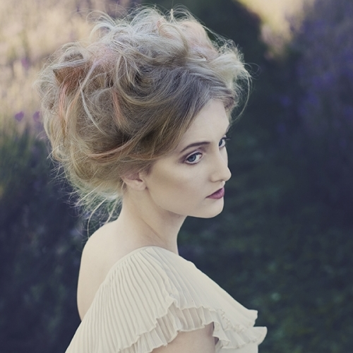 Vintage Lavender Hair Up Side View