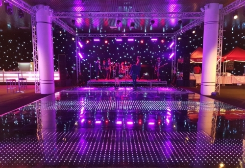 Moving Heads, Colour Commander dance floor And strip lighting