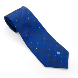 Blue Masonic Tie Silk Woven with Square & Compass with G