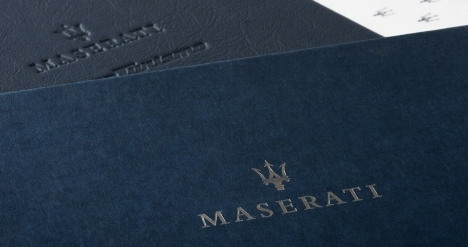 Maserati presentation packaging for GranTurismo book