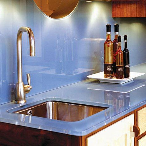 Splashback and worktops