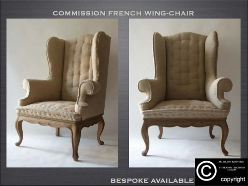 Bespoke French wing chairs many variations available. www.bespokefurnituremakers.company