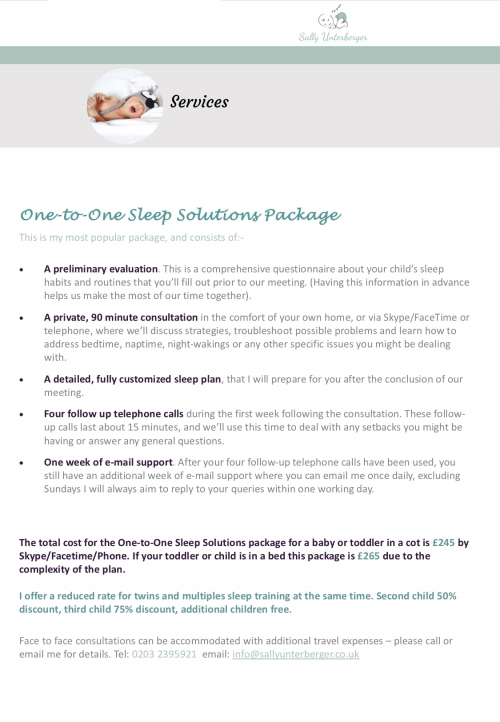 ONE-TO-ONE SLEEP SOLUTIONS