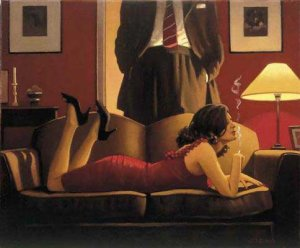 Jack Vettriano - Parlour of Temptation - (Very Rare, Just 1 Available)