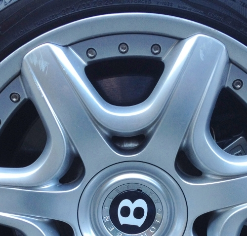 Bentley Alloy Wheel Scuff