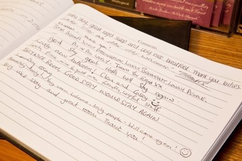 Our Guestbook - Bed and Breakfast Reviews in Maidstone