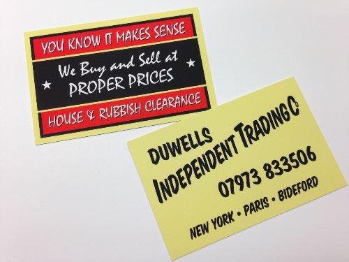 Only Fools and Horses style Business Cards