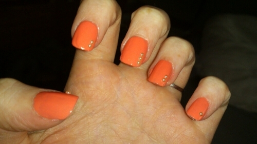 Natural Acrylic Extensions With Polish
