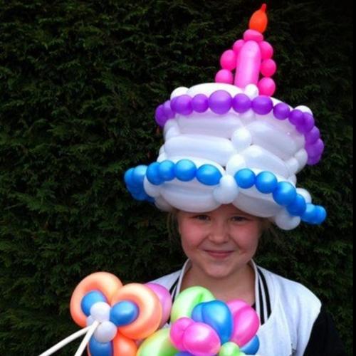 Balloonman: Childrens entertainer milton keynes.. Birthday cake hat