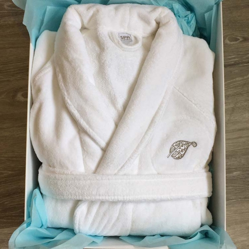 Spa Living Luxury Velour Bathrobe