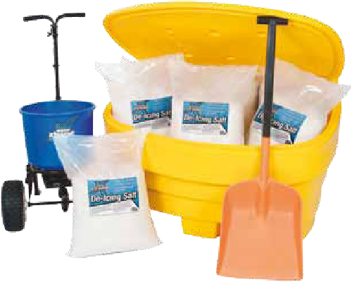 Winter Salt Spreading Car Park Salt Bin Kit