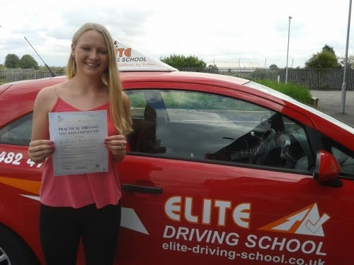 Driving Lessons Cottingham Jemma Purfield - I chose Elite for my driving lessons because my cousin passed first time with them, it was very easy to book lessons. My Instructor Jeannette was great, patient, friendly and explained everything well and clearl