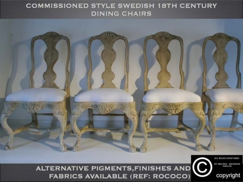 Bespoke Swedish dining chairs. many variations available. www.bespokefurnituremakers.company