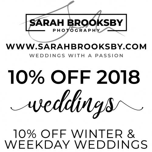 10% OFF 2018 WEDDINGS