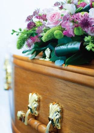 Coffin and Flowers_York