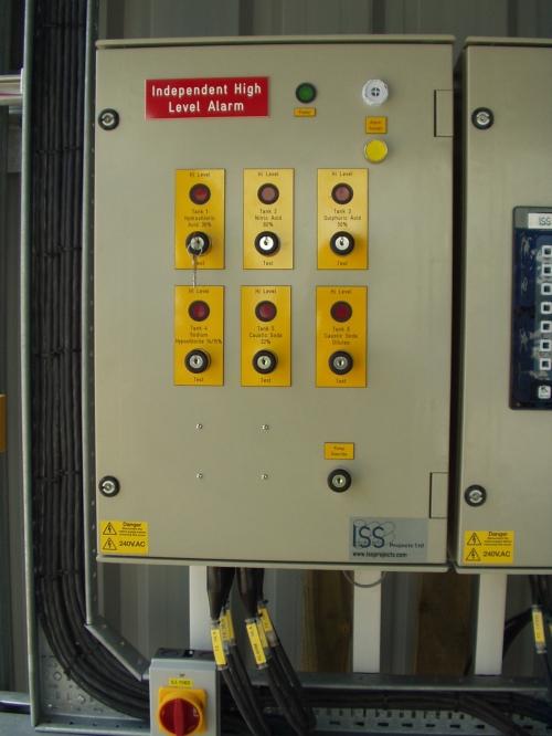 High level alarm panel