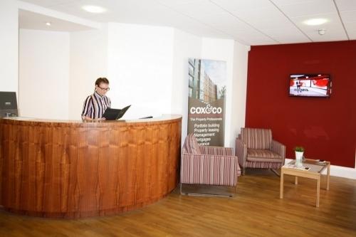 Cox & Co's reception area.