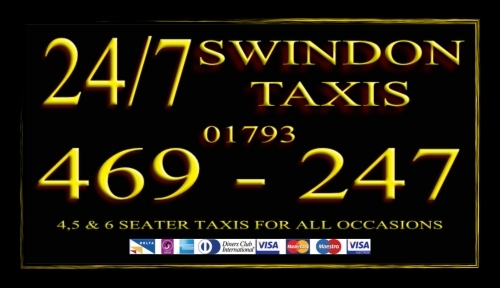 24/7 Swindon Taxis Receipt Cards
