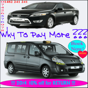 Best Price Guaranteed - Cheap Airport Taxi Transfers From HULL