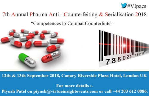 7th Annual Pharma AntiCounterfeiting & Serialisation 2018