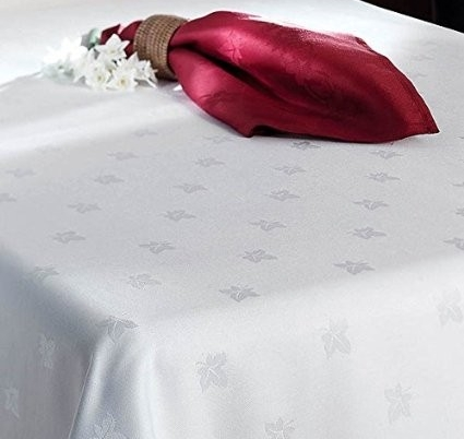 Ivory Embroidered Table Cloth