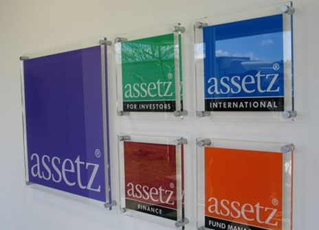 Assetz Reception plaques of holding company and subsideries