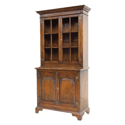 Cheltenham Antique Style Glazed Bookcase