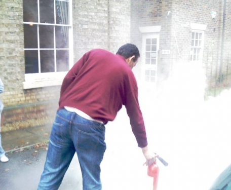 The use of CO2 extinguishers in Rugby.