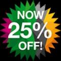25 percent off!