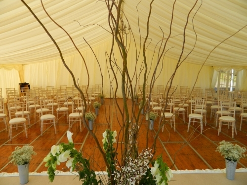 Wedding marquee ceremony / dance floor area