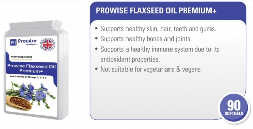 Prowise Flaxseed Oil Premium + 90 Capsules 1000mg UK Made