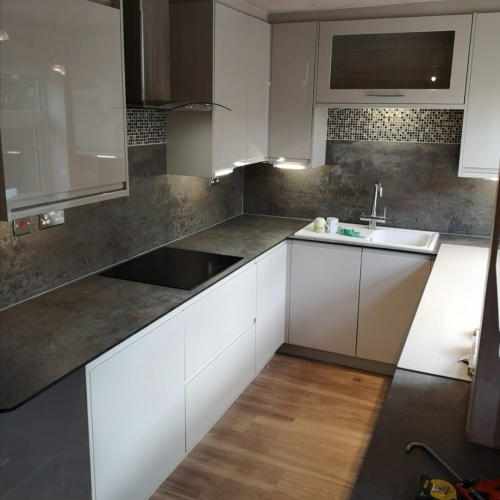 Adding the finishing touches to a kitchen refurb