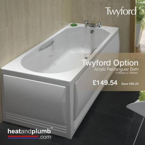 Option Rectangular Bath from Twyford