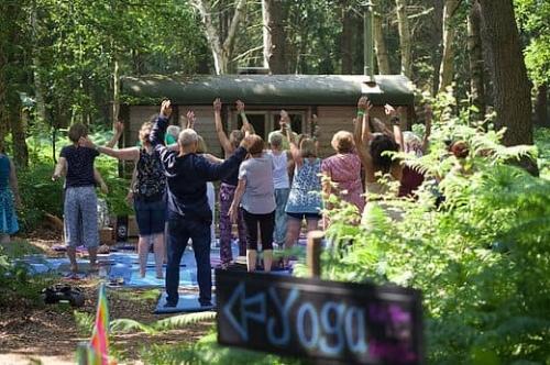 Yoga at Folk in a Field Festival