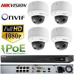 Hikvision 4 CAM NVR CCTV IP System