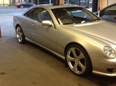 New alloys fitted to a Mercedes CL55!