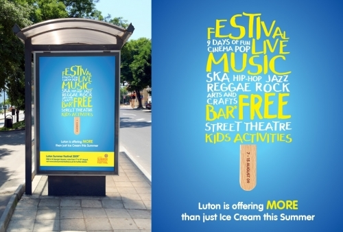 Summer festival identity and promotional material