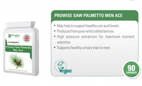 Prowise Saw Palmetto Extract 90 Capsules 2500mg UK Made