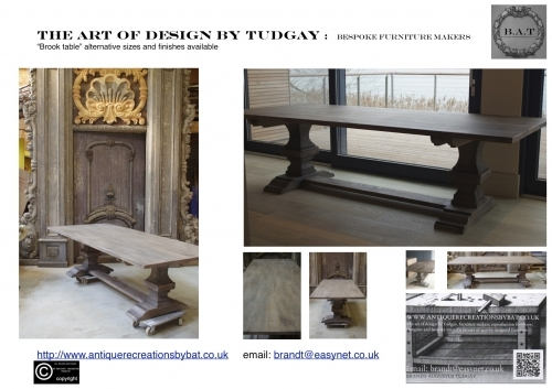 Bespoke Table Brook. Many options available- www.bespokefurnituremakers.company
