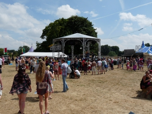 Custom Milos Bandstand used as a wrestling ring at Standon Calling Hertfordshire