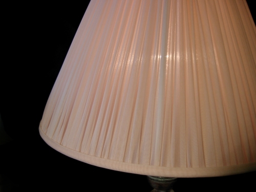 Chiffon Gathered Lampshade In Pink